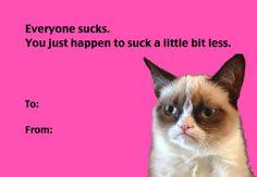 Grumpy Cat Love My Funny Valentine, Grumpy Cat Valentines, Valentines Day Card Memes, Happy Valentines Day, Valentine Ideas, Cheesy Valentine Cards, Valentine Ecards, Valentines Pick Up Lines, Naughty Valentines