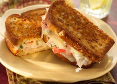 Grilled Crab Meat and Cheese Sammich. Helllooooooo lunch!