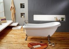This Freestanding Clawfoof Tub From MBM Works As And Excellent Focal Point In The Center Of This Bathroom