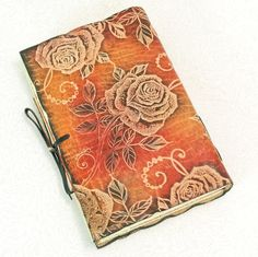 Red Roses leather journal