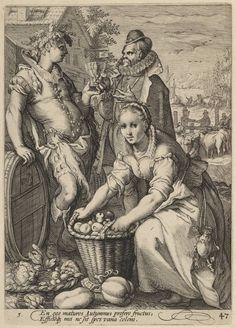 Autumn, Jan Saenredam, c. 1585 - 1607 | Museum Boijmans Van Beuningen