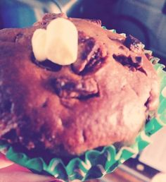 Muffin made for little cousins birthday, chocolate chip