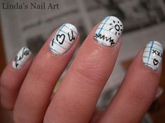 doodle nails.  Too cute.