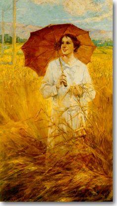 Αργυρός Ουμβέρτος-Γυναίκα με Ομπρέλλα, περ. 1930