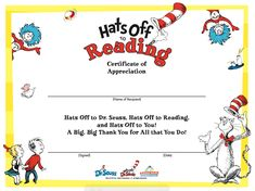 Free certificates free downloadable certificates from trophycentral cat in the hat reading certificate yelopaper Choice Image