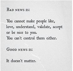 Good news is it doesn't matter