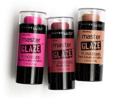 Maybelline Master Glaze Blush Sticks(just pinched pink,coral sheen,make a mauve)