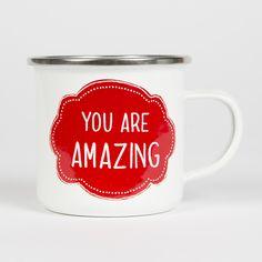 You Are Amazing Enamel Mug | sassandbelle