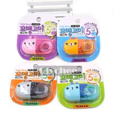 1X Random Bear Cute Correction Tape Pen School Office Study Stationery White Out #Unbranded