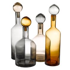 Carafe Bubbles & Bottles Pols Potten - Gris, ambre & beige - h 33 x Ø 18 Decorative Objects, Decorative Accessories, Home Accessories, Decorative Bottles, Summer Accessories, Carafe, Bubble Bottle, Victorian Home Decor, Shopping