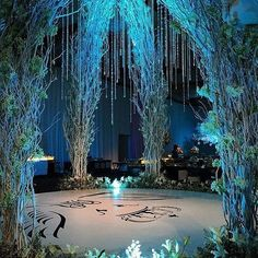 Swooning over this magical dance floor