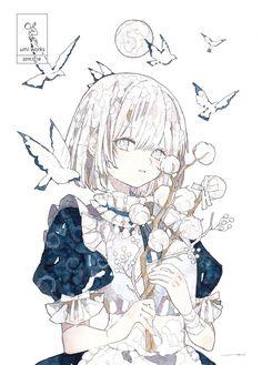 Pretty Anime Girl, Beautiful Anime Girl, Kawaii Anime Girl, Anime Art Girl, Pretty Art, Cute Art, Simple Anime, Animes Yandere, Anime Child