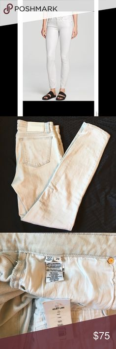 """Helmut Lang Skinny Jeans Helmut Lang skinny jeans, NWT!  Flat measurements about 16"""" across waist, 10"""" rise, 28.5"""" inseam.  There are some light dirt spots from storage, but they are faint and I would wear them as is (if only they still fit!).  See last picture. Helmut Lang Jeans Skinny"""