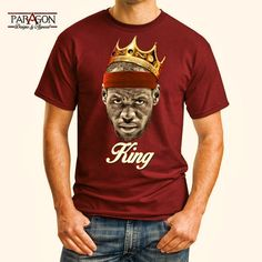 Lebron James King Tee Cleveland Cavaliers by ParagonDesigns32, $19.95