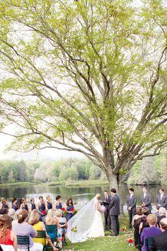 my wedding under a tree by a lake!