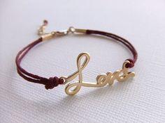Love bracelet in 16K Gold Plated.