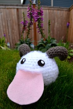 My first try on Crocheted Poro ! League of Legends https://www.facebook.com/pages/Krittiyas-Crafty-Corner/235065663260889