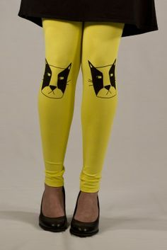 Kikerigu / Shop / Leggings Cat Leggings, Favorite Color, Cat Lovers, Trending Outfits, Yellow, Cats, Unique Jewelry, Clothes, Shopping