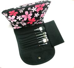 Makeup Bag With Brush Holder By Honeylebarn