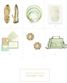 Color palette inspiration: mint green and gold