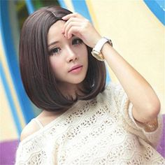 Futuretrend Girls Point Bangs 35cm Short BOBO Dark Brown Hair Wigs -- Read more reviews of the product by visiting the link on the image.(This is an Amazon affiliate link and I receive a commission for the sales)