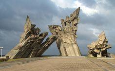 Ninth Fort Holocaust #Monument, Kaunas, #Lithuania (1984).