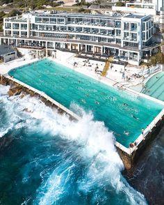 Bondi, New South Wales Bondi Beach Australia, Sydney Australia, Australia Trip, Crazy Pool, Bondi Icebergs, Destinations, Travel Tags, Destination Voyage, Cheap Hotels