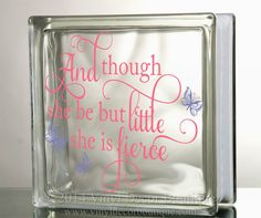 And though she be little she is fierce Glass by VinylDecorBoutique