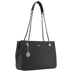 Buy DKNY Bryant Park Saffiano Leather Shopper Chain Bag Online at johnlewis.com