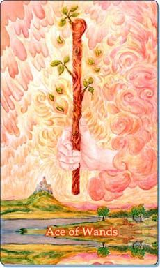 Ace of Wands Tarot Card - Meaning