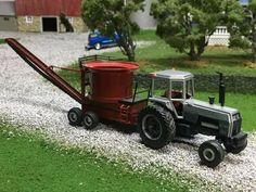 1/64 WHITE 2-180 Rc Tractors, Farm Layout, Chevy Diesel Trucks, Toy Display, Farm Toys, Farm Gardens, Radio Control, Fire Trucks, Perspective