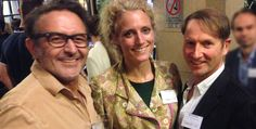 Our Xmas party 2015 - Director Richard Gibson, Anet Redmer and David Steinhoff - Head of Development