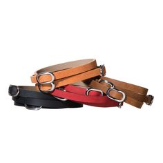 Triple | TOKYObay Bracelets - Leather Bracelets with Slide Through Oval Buckles.