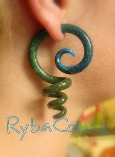 Fake ear gauges / Faux gauges/Gauge earrings / fake by RybaColnce, $18.00