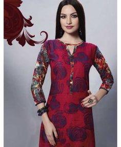 00aa2c9231805 Tunique Indienne Rouge - Tailles 38   42 Tout à 15€ pour  DIWALI Offrez des  cadeaux originaux avec Narkis Fashion