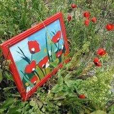 #poppys #gelincikler #oilpainting #yagliboyatablo #canvasart Doğa bize bu kadar yakın işte