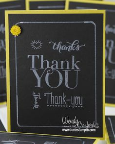 Thank You Card, photopolymer stampin up http://www.luvinstampin.com/2013/09/thank-you-cards.html