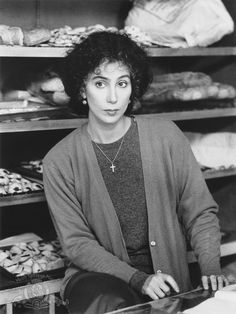 "Cher in ""Moonstruck"" Best Actress Oscar 1987 Oscar Winning Movies, Best Actress Oscar, Films Cinema, Black White, Music Theater, Romantic Movies, Famous Women, Good Movies, Movies And Tv Shows"