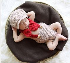 #Newborn baby crochet knit #costume cowboy hat boots photography prop #outfit m8,  View more on the LINK: http://www.zeppy.io/product/gb/2/282100728694/