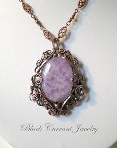 Lavender Amethyst and Copper Pendant