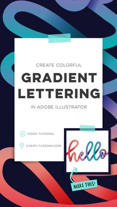 Create colorful gradient lettering in Adobe Illustrator! Video tutorial: every-tuesday.com via @teelac