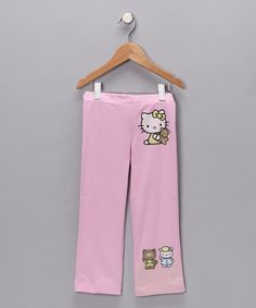 Take a look at this Pink Organic Pants - Toddler by Hello Kitty on #zulily today!