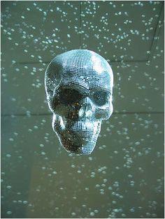 Morbid Disco Decor: Badass Skull-Shaped Glitter Balls
