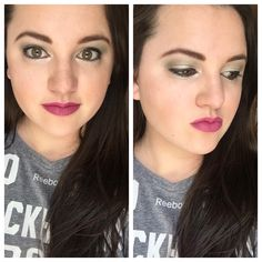 Obsessed with this green pigment! Younique Crushed and Angelic Pigments and Sentimental Splash Liquid Lipstick!