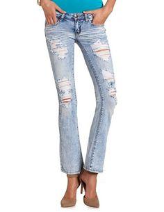 337326d0636f3 Machine Jeans Acid Wash Bootcut Jean  Charlotte Russe