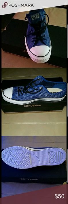 Mens size 13 Converse BNIB,BBW Blue mens Converse sneakers bought for my hubbys bday but he didn't like the color. Reasonable offers accepted through offer button. Converse Shoes Athletic Shoes