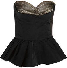 Alexander McQueen Duchesse-silk peplum bustier on shopstyle.com