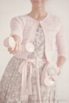 A nice call from your friend :-) via Ana Rosa Pink Love, Pink Grey, Blush Pink, Gray, Pretty Pastel, Pastel Pink, Everything Pink, Vintage Girls, Vintage Beauty