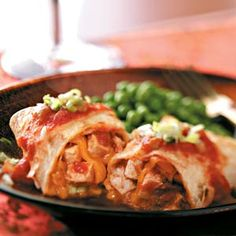 Baked Chicken Chimichangas Recipe from Taste of Home -- shared by Rickey Madden of Clinton, South Carolina