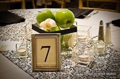 Black, green and white wedding ideas
